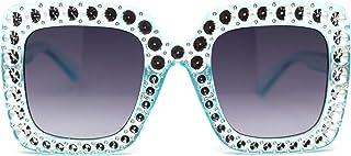 نظارات شمسية مستطيلة الشكل بنمط فراشة مقعرة مزينة بحفر مقعر من الفتيات