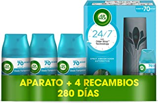 Air Wick Freshmatic - Aparato y Recambios de ambientador spray automático, esencia para casa con aroma a Oasis Turquesa - ...