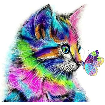 11.8X11.8 inch Minone 5D Diamond Painting Kits for Adults Crafts for Adults Christmas Cat Gifts Butterfly Diamond Painting Embroidery Rhinestone Full Drill Wall Arts Craft Gift for Home Wall Decor
