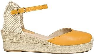 386aaf81 Zapatos miMaO. Zapatos Piel Mujer Hechos EN ESPAÑA. Sandalia Cuña Esparto  Mujer. Cuñas