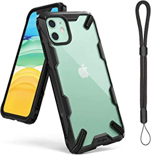 """Ringke Case for iPhone 11 (6.1"""" Inches) Fusion-X Ergonomic Transparent Shock Absorption TPU Bumper Mobile Cover - Black"""
