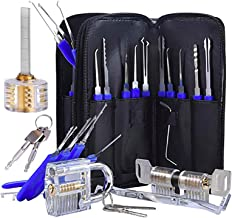 FREEHAND Multi-Function Tool Set-Stainless Steel with 3 Locks Specially Designed Training Kit Black Professional 17 Pcs