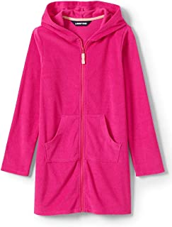 Nautica Girls/' Hooded Terry Velour Swim Cover-up Beach Robe