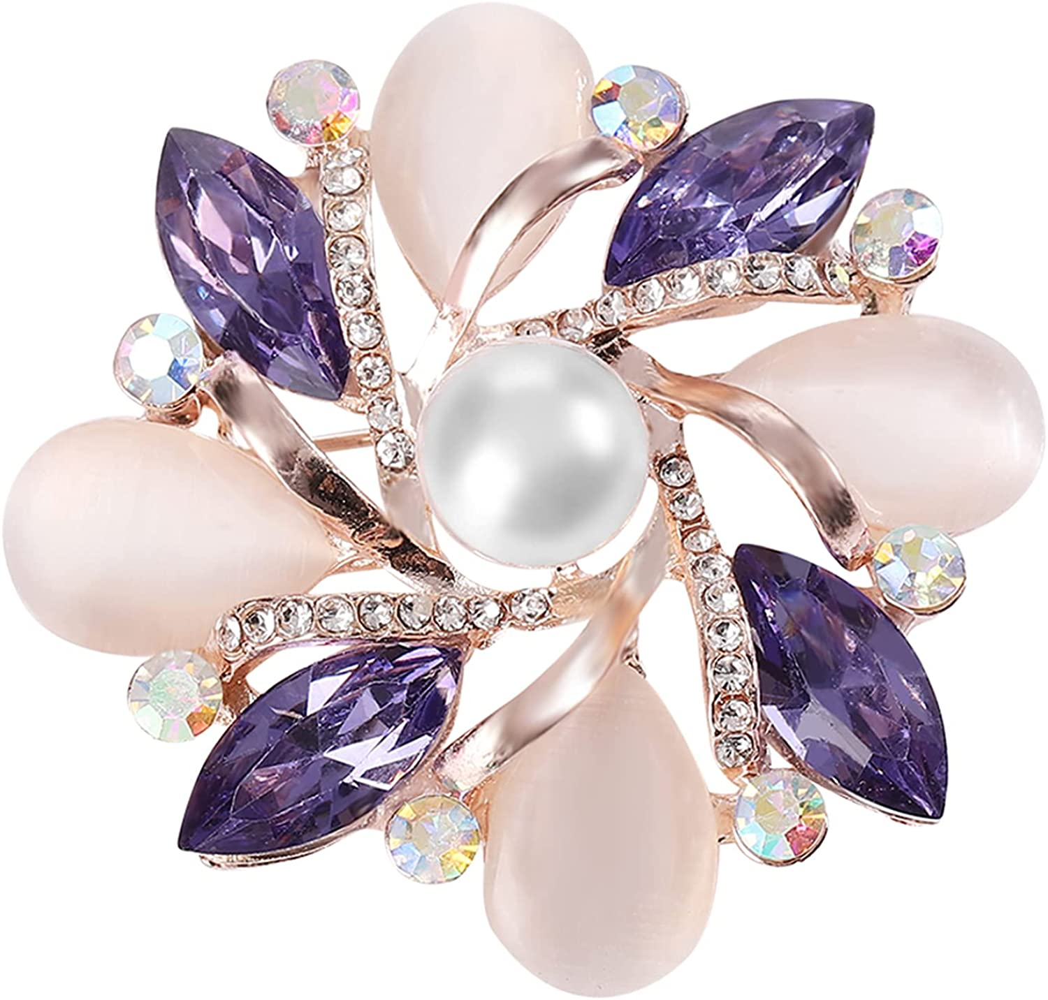 Costume Jewelry for Women Flower Brooch Pins for Women Fashion Crystal Broches Vintage Jewelry Broche Pins
