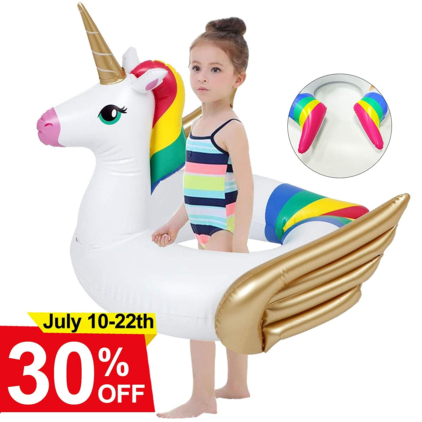 Unicorn Pool Float for Kids Swimming Floats for Toddlers Age 3.5-6 Years Inflatable Unicorn Floats for Pool for Girls Boys Summer Swimming Cute Kids Floaties ruw2590160
