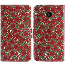 TienJueShi Rose Flower Book-Style Flip Leather Protector Case Cover Skin Etui Wallet for Allview P4 PRO 4.2 inch