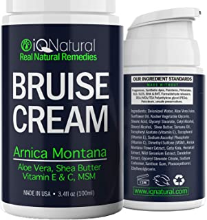 Arnica Cream - Bruise Healing Cream, Arnica Gel with Aloe Vera, Arnica Montana, Vitamin E & C, 3.4 oz