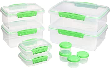 Sistema 82003 Klip IT Food Storage Containers | 6 Plastic Food Containers with Lids | 4 Dressing to Go Pots | BPA-Free | 1...