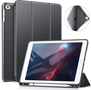 Ztotop Case for iPad 9.7 Inch 2018/2017 Case with Pencil Holder - Lightweight Soft TPU Back Cover with Auto Sleep/Wake, Protective for iPad 6/5th Generation,Dark Grey