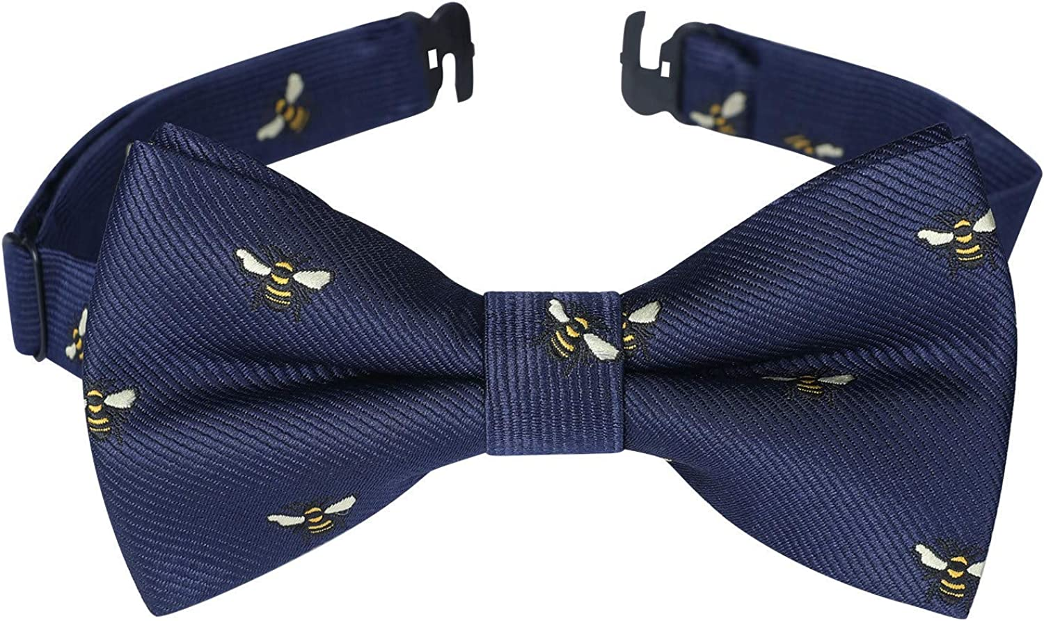 Bow Ties for Boys Pre-Tied Kids Bow Tie Patterned Adjustable Toddler Clip-On Bowties for Wedding or Party