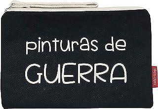 Hello-Bags N-002-PINTURAS Bolso Neceser/Cartera de Mano. Algodón 100%. Negro. con Cremallera y Forro Interior. 23 * 15,5 c...