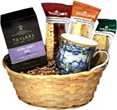 English Earl Grey Tea Gift Basket with Tea Mug and Tea Cookies - Ships the Same Business Day, Order by 1:00 PM Pacific Time