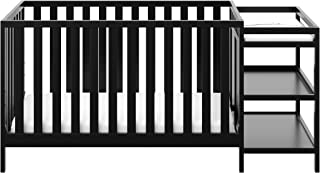 Storkcraft Pacific 4-in-1 Convertible Crib and Changer Black