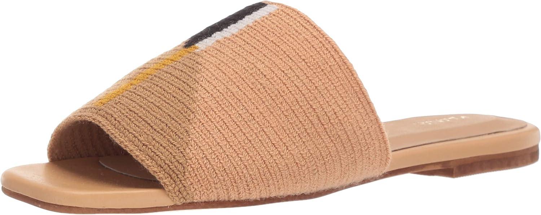 KAANAS Women's Bronte Woven Flat Fashion Slide Shoe Sandal