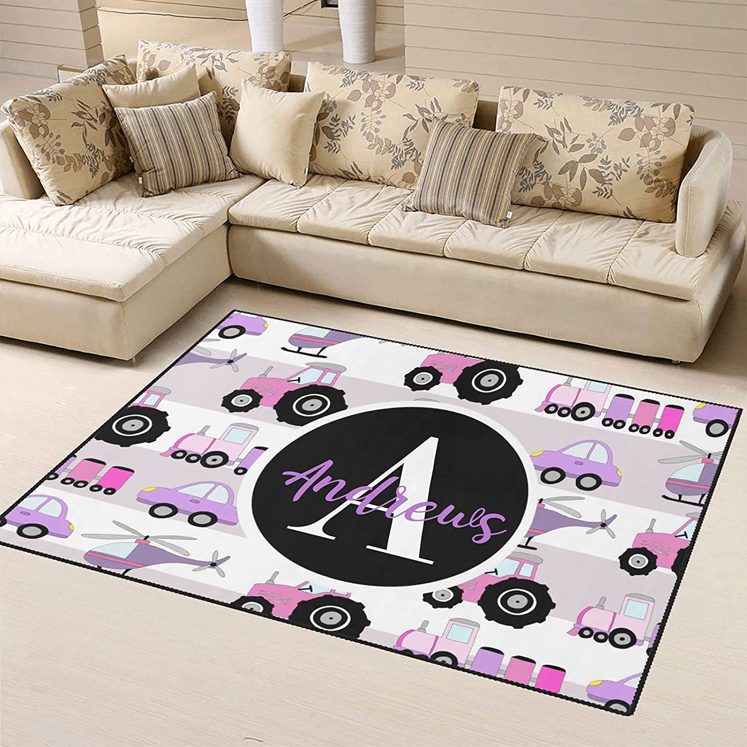 Personalized Manufacturer direct delivery Tractor Pattern Area Rug Ranking TOP19 Carpets Custom F with Name