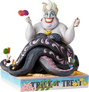 Enesco Disney Traditions by Jim Shore The Little Mermaid Halloween Ursula Figurine, 7 Inch, Multicolor