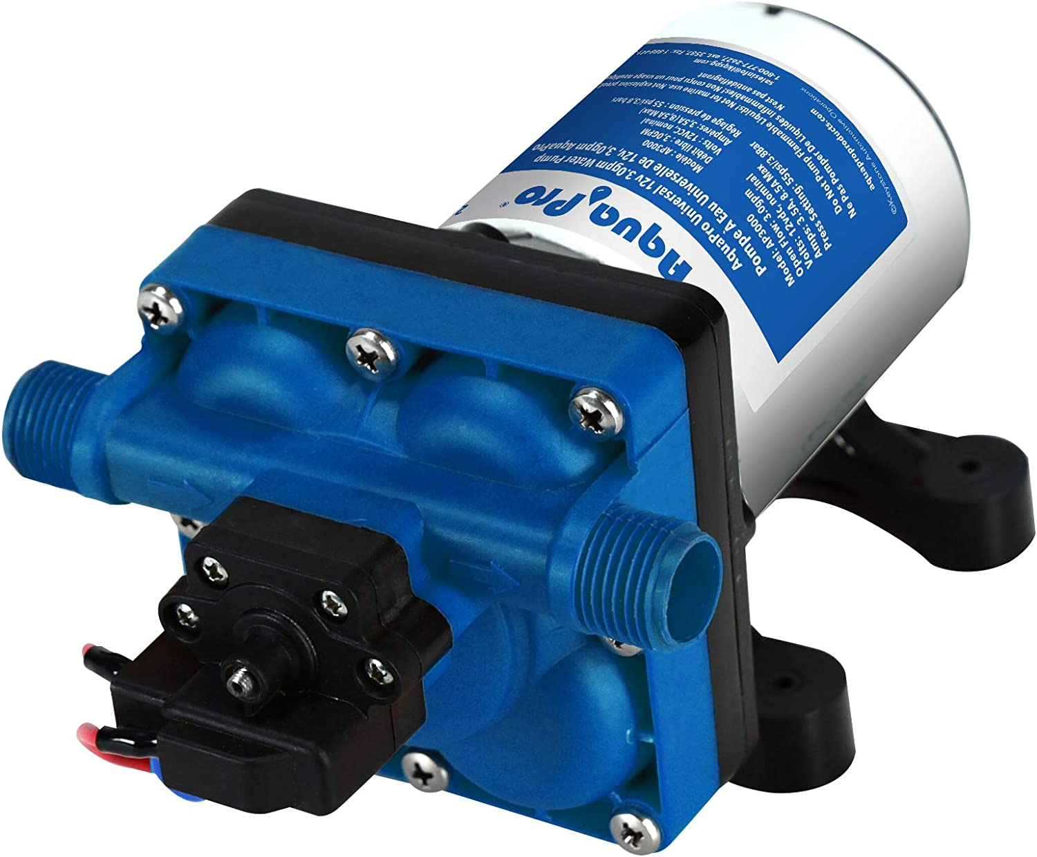 Aquapro 21847 3.0Gpm 12V Save money Pump Safety and trust MUL-Fixture