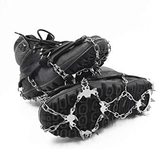 ROCONTRIP Traction Cleats Ice Snow Grips Anti Slip Stainless Steel Spikes Crampons for Footwear M/L/XL