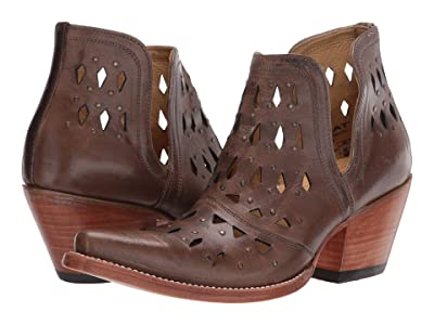 Ariat Dixon Studded (Ash Brown) Cowboy Boots