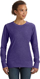 Anvil Clementine Ringspun French Terry Mid-Scoop Sweatshirt 72000L -Heather PURP L