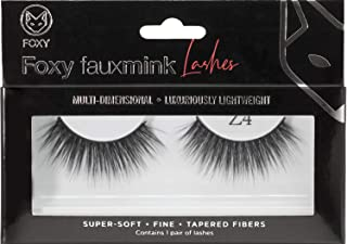 Foxy Multilayered Faux Mink Lashes - 100% Handmade Reusable False Eyelashes with 3D Effect - Luxurious Natural-Looking and Volume-Enhancing Fibers for Extra Glamour - Super Soft and Easy to Wear (Z4)