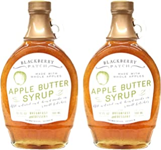 Blackberry Patch Whole Apple Butter Syrup 2 Pack (12 oz Each) - Made in Small Batches - Apple Butter Syrup for Breakfast a...