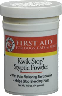 Gimborn Miracle Care – Kwik Stop Styptic Powder Helps Stop Bleeding, First Aid for Dogs, Cats and Birds – 0.5 oz