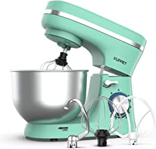 KUPPET Stand Mixer, 8-Speed Tilt-Head Electric Food Stand Mixer with Dough Hook, Wire Whip & Beater, Pouring Shield, 4.7QT...