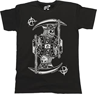 Hombres y Damas King of Anarchy T-Shirt Mens Ladies Unisex Fit Goth