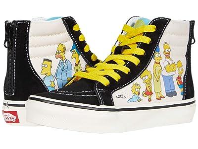 Vans Kids Vans X The Simpsons Sneaker Collection (Little Kid) ((The Simpsons) 1987-2020 (Sk8-Hi Zip)) Kids Shoes