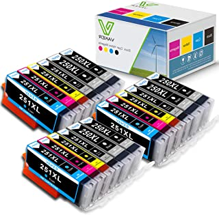 VAKER 18 Packs Compatible Canon Ink Cartridges 250 and 251 Replacement for Canon PGI-250XL PGI 250 XL CLI-251XL CLI 251 XL to use in PIXMA MX922 IX6820 IP8720 MG5520 MG5420 MG6320 MG7120