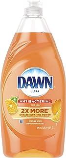 Dawn Ultra Antibacterial Hand Soap, Dishwashing Liquid Dish Soap Orange, 28 Fluid Ounce, Pack of 8