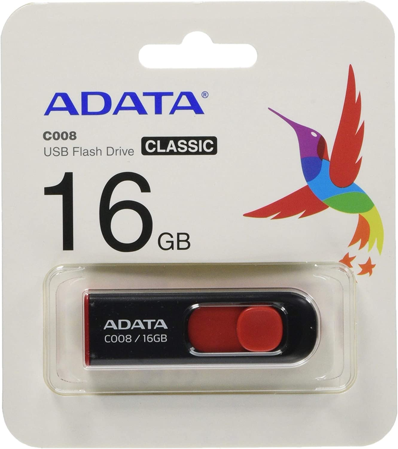 Max 63% OFF A-DATA TECHNOLOGY C008 16GB USB Fashionable Retractable Capless Dr 2.0 Flash