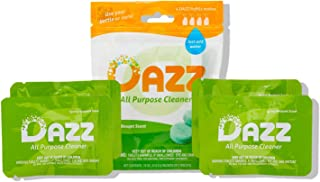 DAZZ All Purpose Cleaner Refill Pack (Makes 4-32oz Bottles) All Natural Multisurface Household Cleaner Spray - Eco Friendl...