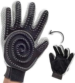 Elite Goods Premium Pet Grooming Glove - Gentle De-Shedding Brush Glove - Award Winning Shedding, Bathing, Hair Remover Gl...