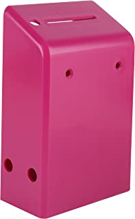 """MCB Hard Plastic Charity Donation Boxes or Coin Collection Box, Wall Mount Ballot Box, 6.1"""" x 3.9"""" x 2.2"""" - Pack of 5 (Pink)"""