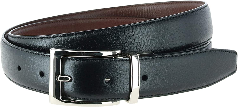 Trafalgar Men's Dorado 30mm Pebble Reversible Belt Grain Leather 100% quality warranty! Max 71% OFF
