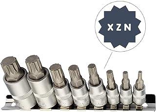 XZN Juego de llaves de vaso multidientes I M4 M5 M6 M8 M10 M