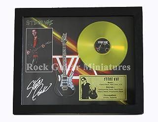 rgm8936Steve Vai Guitarra CD disco de oro y acero en Shadowbox marco