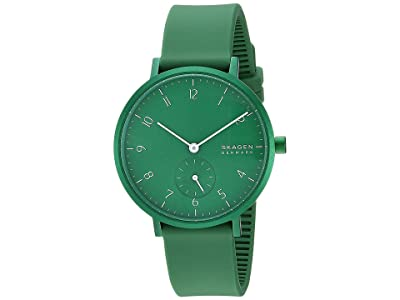 Skagen Aaren Kulor 36mm Three-Hand Silicone Watch (SKW2804 Green Silicone) Watches