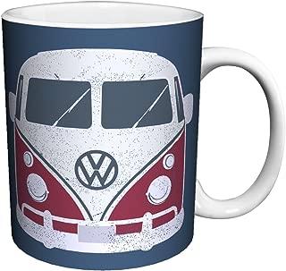 Volkswagen VW Camper Van Vintage Illustrated Car Art Porcelain Gift Coffee (Tea, Cocoa) 11 Oz. Mug