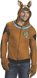 Rubie's Men's Scooby Doo Hoodie, Brown, Large