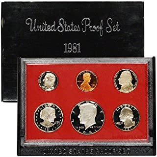 1981 S Gem 6-Piece Proof Set Penny, Nickel, Dime, Quarter, Half with SBA Dollar OGP - Excellent Proof Coins US Mint