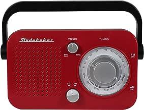 Studebaker SB2001 Portable AM/FM Radio (Red)