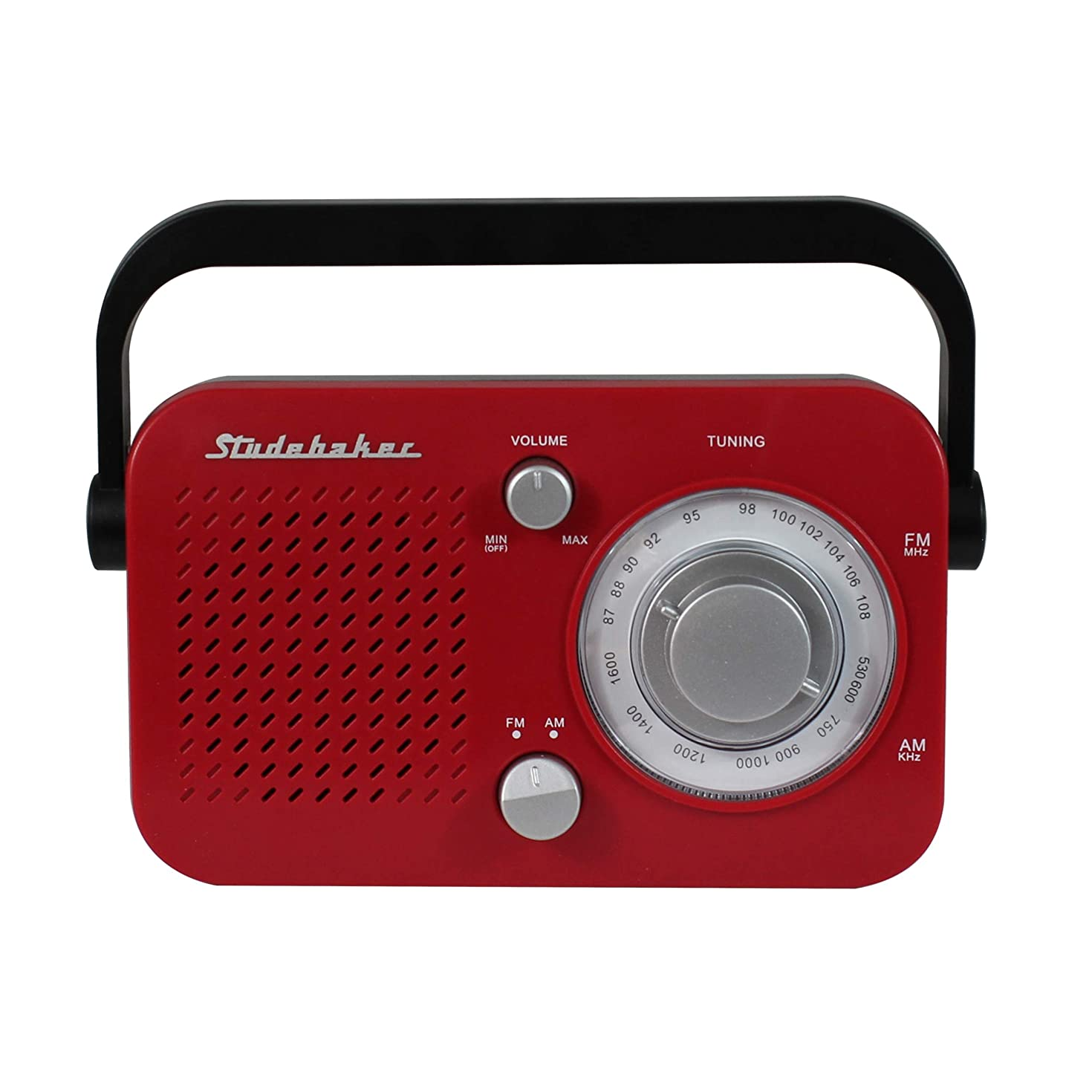 Studebaker SB2001 Portable AM/FM Radio (Red)