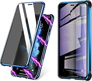 BVCY Magnetic Adsorption Case for iPhone XR with Built-in Anti-Spy Privacy Screen Protector Anti-Peeping Case (Blue)