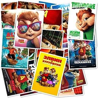 Alvin and The Chipmunks 20/pcs PVC Series Sticker Home Decor Fridge Styling Wall Travel Suitcase Graffiti Styling Stickers