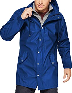 Men's Waterproof Raincoat Lightweight Hooded Windbreaker Jackets Outdoor Trench Coat