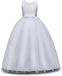 Big Girls Lace Bridesmaid Dress Dance Gown A Line Dresses