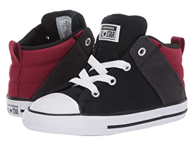 Converse Kids Chuck Taylor All-Star Axel Canvas + Textile Mid (Infant/Toddler) (Black/Back Alley Brick/White) Boys Shoes